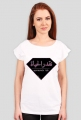 Doceń życie, diament, geometryczny wzór, napis po arabsku, arabski alfabet