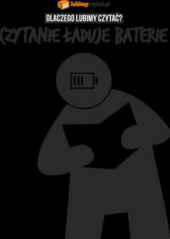 Koszulka męska PiktoGrafiki - Czytanie ładuje baterie