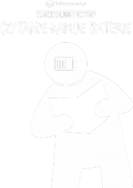 Bluza męska PiktoGrafiki - Czytanie ładuje baterie (wersja czarna)