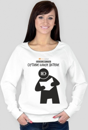 Bluza damska PiktoGrafiki - Czytanie ładuje baterie