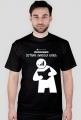 Koszulka męska PiktoGrafiki - Czytanie zwiększa zasięg (wersja czarna)