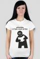 Koszulka damska PiktoGrafiki - Czytanie ładuje baterie