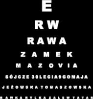 Rawa - tablica Snellena - czarna