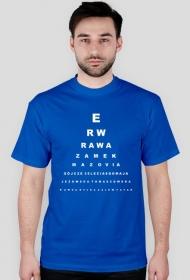 Rawa - tablica Snellena - niebieska
