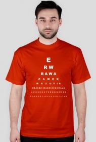 Rawa - tablica Snellena - czerwona