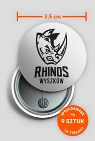 Rhinos Mono Przypinka II
