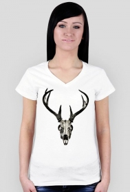 V-neck - deer skull vol. 4