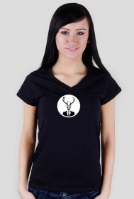 V-neck - deer skull vol. 1