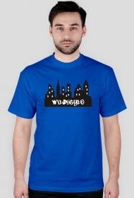 "Koszulka ""Miasto"" Męska - niebieska"