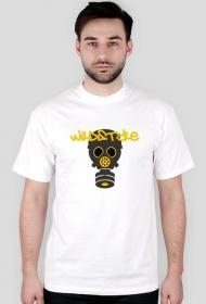 "Koszulka ""Maska Gazowa"" Męska - biała"