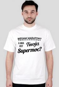 """Koszulka biegacza """"Jaka jest Twoja supermoc?"""""""