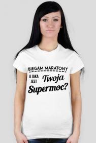 """Koszulka biegaczki """"Jaka jest Twoja supermoc?"""""""