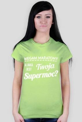 """Koszulka biegaczki """"Jaka jest Twoja supermoc?"""" - różne kolory"""
