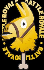 Maseczka - Złota Lama Fortnite