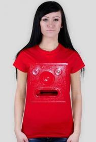 Koszulka czerwony kasownik damska