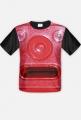 Koszulka czerwony kasownik męska full-print