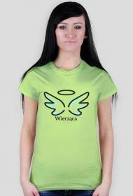 """Chrześcijańskie koszulki - damska """"Wierząca"""""""