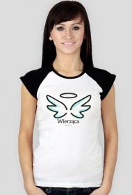 """Chrześcijańskie koszulki - damska """"Wierząca"""" (wzór 2)"""