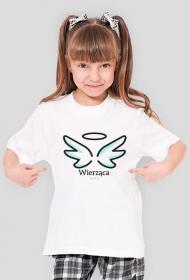 """Koszulki katolickie - dla dziewczynki """"Wierząca"""""""
