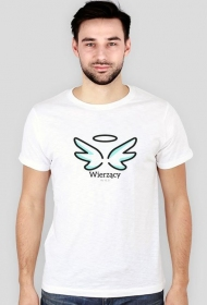 """Koszulki religijne - męska """"Wierzący"""" (wzór 4)"""