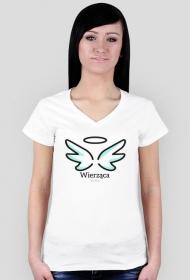 """Koszulki religijne - damska """"Wierząca"""" (wzór 3)"""