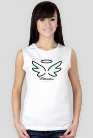 """Koszulki chrześcijańskie - damska """"Wierząca"""" (wzór 4)"""