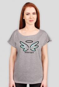 """Koszulki chrześcijańskie - damska """"Wierząca"""" (wzór 5)"""