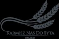 """Koszulki religijne - damska """"Karmisz nas"""" (czarny wzór 3)"""