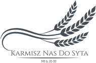 """Koszulki religijne - damska """"Karmisz nas"""" (czarny wzór 4)"""