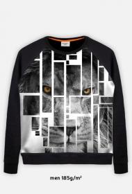 Pixel lion - bluza męska typu baseball