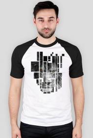 Pixel lion - męski t-shirt typu baseball