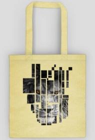 Pixel lion - torba na zakupy