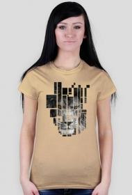 Pixel lion - damski t-shirt