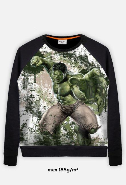 Marvel - Hulk Bluza Baseball Męska