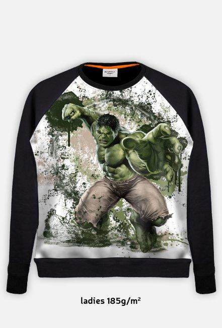 Marvel - Hulk Bluza Baseball Damska