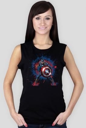 Marvel - Capitan America bęzrękawnik damski