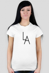 LA white t-shirt girl