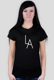 LA black t-shirt girl