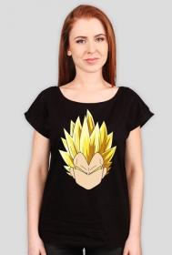Dragon Ball Vegeta SSJ - koszulka damska oversize
