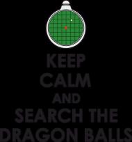 Dragon Ball KEEP CALM AND SEARCH THE DRAGON BALLS - koszulka męska slim
