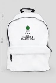 Dragon Ball - Biały plecak KEEP CALM AND SEARCH THE DRAGON BALLS