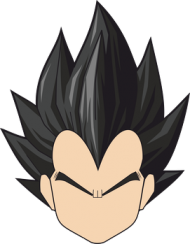 Dragon Ball - Biały plecak Vegeta