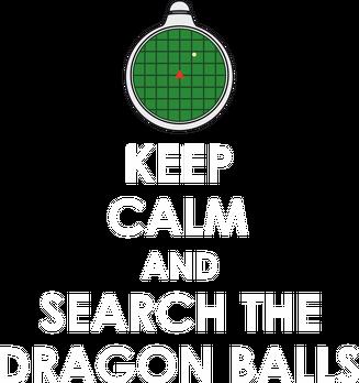 Dragon Ball - Czarny plecak KEEP CALM AND SEARCH THE DRAGON BALLS.