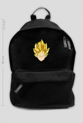 Dragon Ball - Czarny plecak Goku SSJ