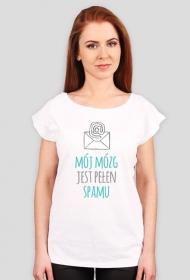 Mój mózg jest pełen SPAMU - geek - koszulka damska