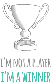 I'm not a player, I'm a winner - geek - koszulka damska