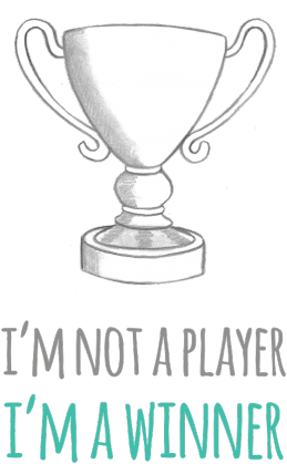 I'm not a player, I'm a winner - geek - t-shirt męski