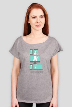 Jestem Responsywna - geek - koszulka damska
