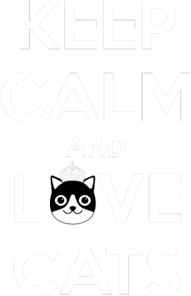 KEEP CALM and LOVE CATS - BLACK