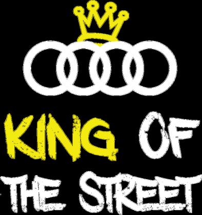 "Bluza bez kaptura ""KING OF THE STREET"" CZARNA"